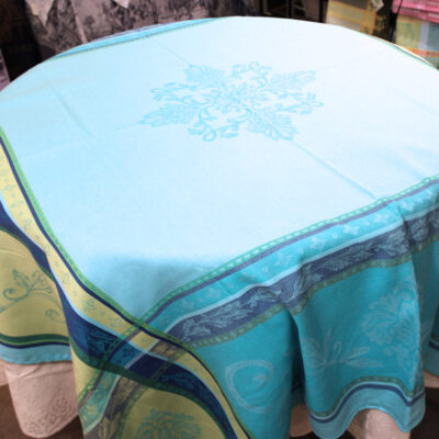Bourbon Aqua Table Cloth