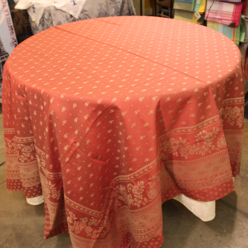 64u2033 X 98u2033 Floral Antique Red Table Cloth