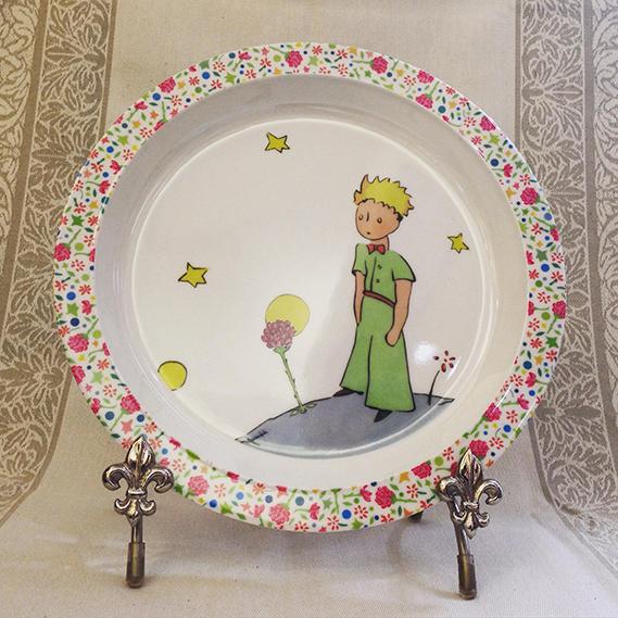 Le Petit Prince Baby Plate Rose Gem De France